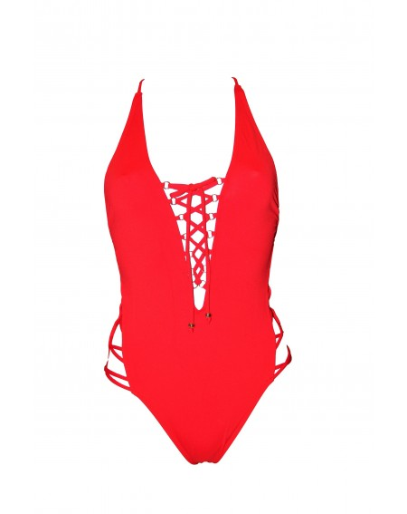 NEW BIRDS THE SHOULDER CROSSBACK SWIMSUIT