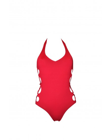 MIRANDA RED WINE SWIMSUIT